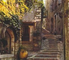 St. Paul de Vence.  One of my favorites near the French Riviera.  Quaint.