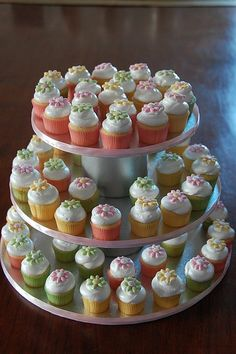 Baby Shower Mini Cupcake Tower by TheLittleCupcakery, via Flickr