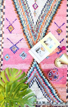 Boucherouite Rug, Pink Dream - Baba Souk