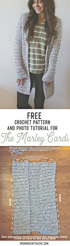 I have rounded up some of the adorable and stunning free crochet cardigan patterns for your inspiration!Free Pattern for the Marley Cardi