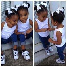 They are the cutest things ever. If I had twins, I would totally dress them like this.