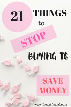 21 Things to Stop Buying to Save Money - Iheartfrugal Do you need some saving money tips? This post list 21 things to stop buying and help you save over $3000 per year! Use my saving money ideas to get your budget back on track! #savemoney #savings #moneysaver