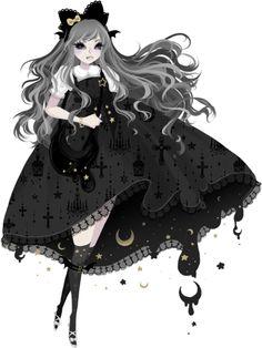 Lolita illustration wearing Angelic Pretty's Holy Night Lantern