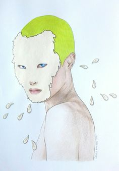 China boy. Neon eyes.