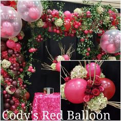 Organic balloon arch for weddings and Quinceaneras