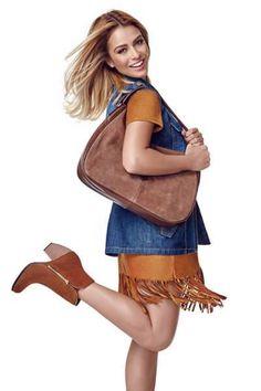 LOOK BOHO FOREVER <3 Nada mais perfeito do que a combinação de caramelo e jeans! Aposte sem medo para ter um look de pegada boho e anos 1970!   COMPRE ESSE PRODUTO NESSA LOJA: http://imaginariodamulher.com.br/look/?go=2abuqyr