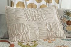 Soft Knit Basket Weave Pillow by Miriam Tribe >> National Serger Month