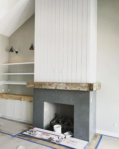 Home Decoration Living Room .Home Decoration Living Room Shiplap Fireplace, Concrete Fireplace, Farmhouse Fireplace, Home Fireplace, Fireplace Remodel, Modern Fireplace, Fireplace Surrounds, Fireplace Design, Victorian Fireplace