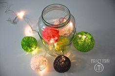 Cotton ball lights świetnie nadają się do wnętrz, jak i do ogrodu albo na balkon. Zapewniają atmosferę i ciepłe światło.