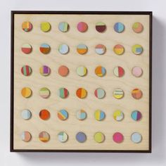 """Amelia Coward; Collage, """"Forty two vintage paper dots - Limited Edition of 20; 8 Sold"""" #art"""