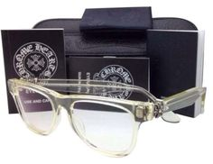 3645a79096e Chrome Hearts New CHROME HEARTS Eyeglasses HARD WC Clear - Buff Frame w   Sterling Silver