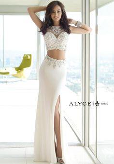 Alyce Paris Jersey Long Dress 6391