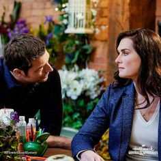 """Check out photos from the Hallmark Movies & Mysteries movie """"Flower Shop Mystery: Snipped in the Bud,"""" starring Brooke Shields, Brennan Elliott and Beau Bridges. Hallmark Romantic Movies, Hallmark Movies, Flower Shop Mystery, Hallmark Mysteries, Brooke Shields, Comedy Movies, Good Movies, Couple Photos, Flowers"""