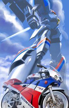 Arte Robot, Robot Art, Racing Motorcycles, Custom Motorcycles, Cbr 250 Rr, American Flag Bandana, Er6n, Japanese Robot, Bike Details