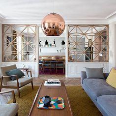 Un salon contemporain aux touches scandinaves - Marie Claire Maison