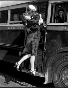 a kiss before the bus leaves