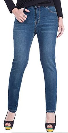 Womens Embroidery Loose Straight Leg Ripped Boyfriend Jeans Dark Blue 28 * Click image to review more details.
