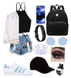 Street Summer Night by jxxmll on Polyvore featuring polyvore fashion style Disney Stars Studios adidas Fitbit Concrete Minerals clothing