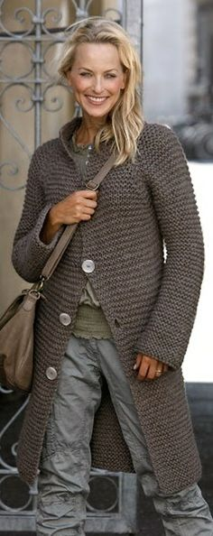 knitting garter stitch coat