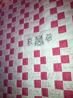 Wedding Quilt. Have guests sign fabric to be created into a quilt guestbook.