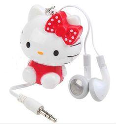 hello kitty retractable headphones
