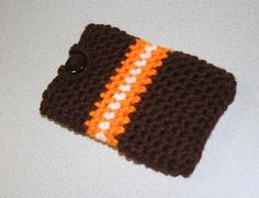 iPod touch or iPhone case - crochet Cleveland Browns themed. $3.99