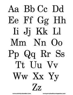 Letter Stencils Lower Case Letters Stencil
