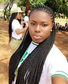 Zig Zag Braids Headtop Hair Styles Braided Hairstyles Curly in proportions 1080 X 1344 Zig Zag Braids Hairstyle - You've spent time and energy (or perhaps Box Braids Hairstyles, My Hairstyle, African Hairstyles, Hairstyle Photos, Medium Hairstyles, Hairstyles 2018, Protective Hairstyles, Protective Styles, Black Girl Braids