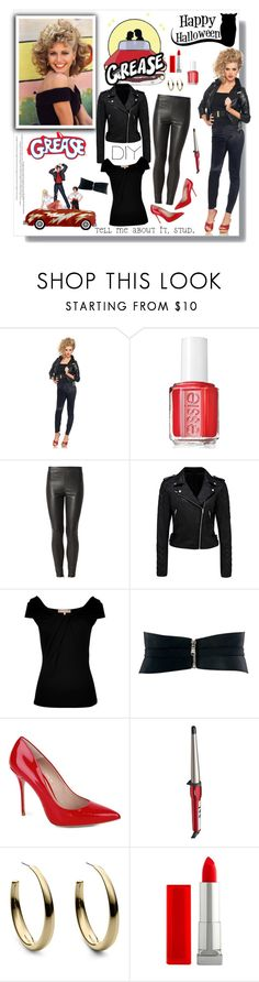 """""""DIY Halloween Costume"""" by sharoncrotty ❤ liked on Polyvore featuring Essie, Forever New, Michael Kors, ASOS, Kurt Geiger, Conair, Maybelline and halloweencostume"""
