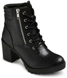 Mossimo Supply Co. Women's Mossimo Supply Co Easton Chunky Heel Combat Boots