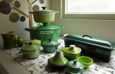 Le Creuset Greens by jeannechang5, via Flickr