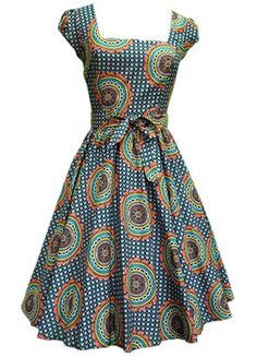 Hippie Print Summer Swing Dress from Lady Vintage. by laviye - 2019 Dresses, Skirt, Shirts & African Inspired Fashion, African Print Fashion, Africa Fashion, Fashion Prints, Fashion Design, Summer Swing Dresses, Swing Dress 50s, African Print Dresses, African Dress