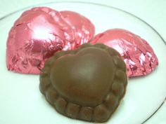 Little Milk Chocolate Hearts  Strawberry Flavored & by justByou, $6.00