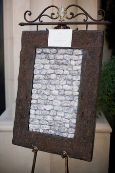 Cool idea..mini version of the wailing wall of Jerusalem.