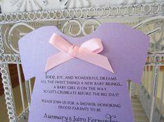 Lavender Baby Shower Invitation   Custom by BeautifullyInviting, $2.20