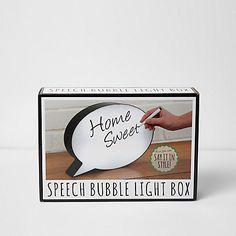 Speech bubble light box £25.00
