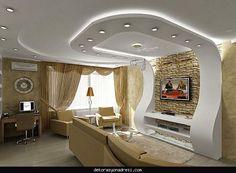 dekorasyonadresi Salonlar İçin Asma Tavan Modelleri 2016 (3) - Dekor Kadını, ev ... Bedroom False Ceiling Design, False Ceiling Living Room, Bedroom Ceiling, Pop Design, Tv Wall Design, Ceiling Plan, Ceiling Ideas, Master Bedrooms, Master Suite