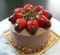 苺とチョコのケーキ
