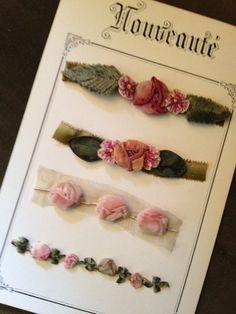 French Ribbonwork Sample Card