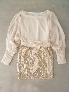 comfy sweater and sparkles :)