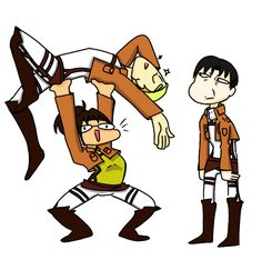 """Levi is just like,"""" Bruh. No. Stahp. What are you doing?!"""""""