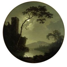 Joseph Wright of Derby - Lake With Castle on a Hill