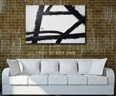 """Black and White Abstract Art """"Strengthen"""" giclee print by LaTanya Renee"""
