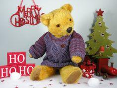 Hugsly a gentle faced Pedigree bear C1950   www.onceuponatimebears.co.uk