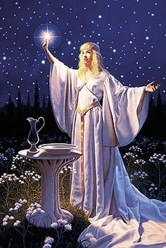 Ring of the Elf Queen by Greg Hildebrandt ~ Galadriel from the Lord of the Rings by J.R.R. Tolkien Acrylic on Board. Signed by Greg