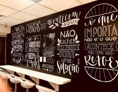 acrylic on canvas Chalkboard Restaurant, Art Restaurant, Kitchen Chalkboard, Chalkboard Art, Restaurant Design, Wall Art Designs, Wall Design, Chalkboard Wallpaper, Mobile Coffee Shop