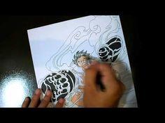 Speed Drawing Luffy Gear Fourth - ONE PIECE / ルフィ - ワンピース