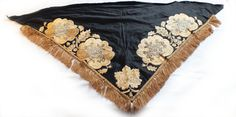1900 Victorian Antique Shawl Beaded Embroidered by pippatree, $180.00