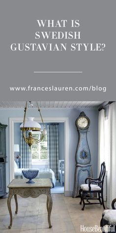 This Inspired Life by Lauren Servati I Frances Lauren Interiors Let's start with the who's and the why's of how Gustavian style came to be, and then we'll dive into what makes Swedish Gustavian style furniture and design so relevant to us today. Swedish Interior Design, Swedish Decor, Swedish Interiors, Country House Interior, Swedish Style, Contemporary Interior Design, Decor Interior Design, Traditional Interior, Nordic Style