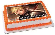 Final Fantasy 7 Edible Birthday Cake Topper OR Cupcake Topper, Decor